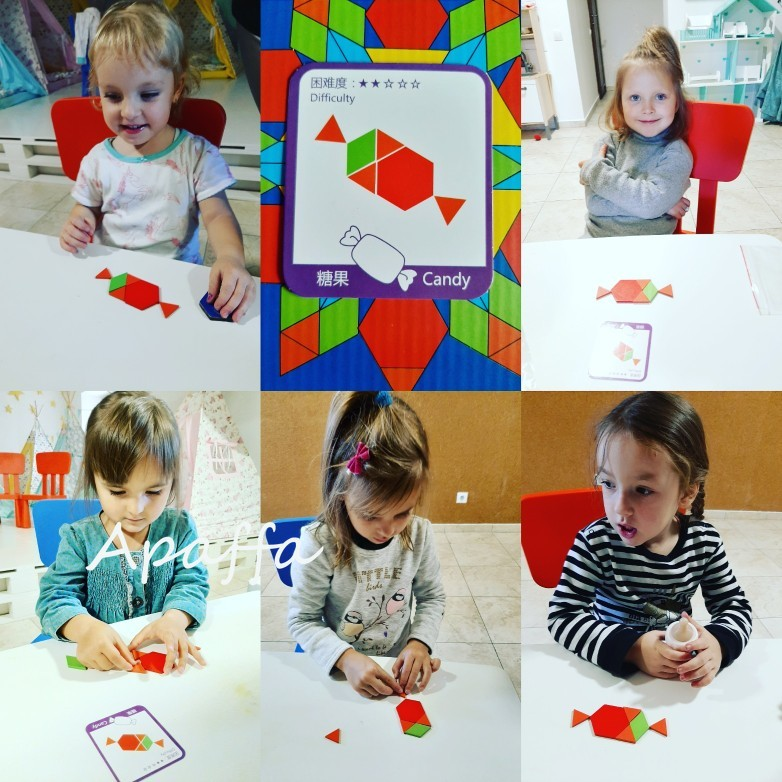 Image 5 - 155pcs 3d Wooden Jigsaw Puzzle Early Childhood Education Geometric Tangram Wooden Game Toys for Children Montessori LearningPuzzles   -