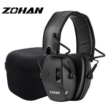 ZOHAN Electronic Ear Protection for Shooting Tactical hunting earmuffs headphones Sound Amplification Noise Reduction NRR 22db