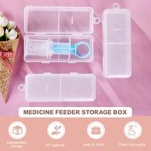 Контейнер для хранения детских лекарств портативный пылезащитный с пипеткой чехол для младенцев коробка для кормления малышей поддержка ...