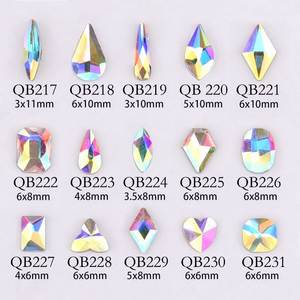 20pcs Crystals Nail Diamond Stone Strass AB Glass Rhinestones For 3D Nails Art Decorations Supplies Jewelry QB217-246A