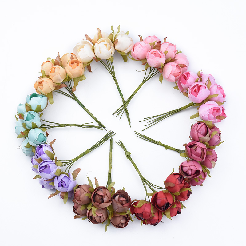 6pcs Roses Cheap Artificial Flowers For Wedding And Christmas Decorations 1