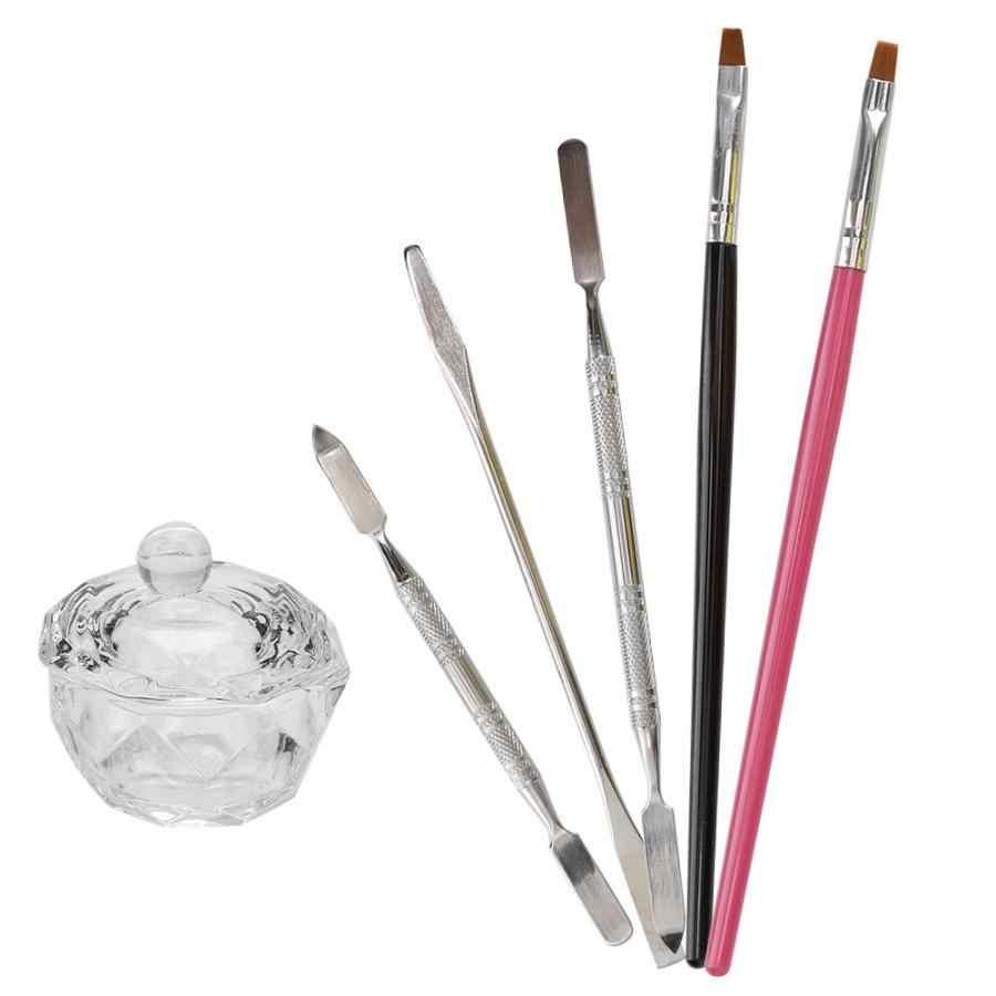 Ensemble de manucure 6 pièces ensemble d'outils d'assistant de Gel d'extension d'ongle ensemble de stylo d'art d'ongle