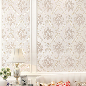 Image 5 - European Style PVC Waterproof Wallpaper Luxury Damask 3D Stereoscopic Relief Damascus Bedroom Living Room Wall Paper Home Decor