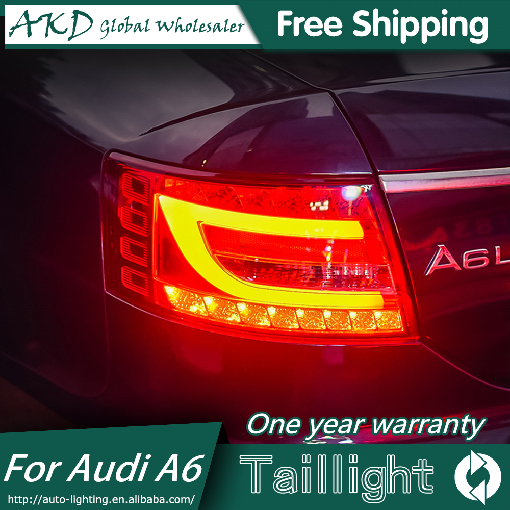 AKD Car Styling for AUDI A6 TAIL Lights LED Tail Light LED Rear Lamp DRL+Brake Trunk LIGHT Automobile Accessories image