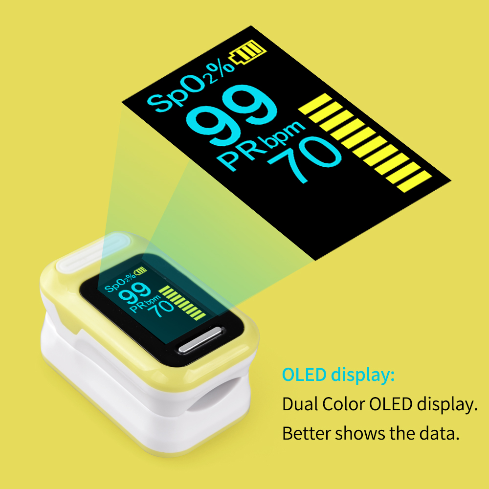 ELERA Finger Pulse Oximeter with OLED Display to calculate Blood Oxygen Saturation 3