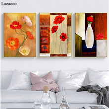 Retro Floral Poster Wall Art Canvas Painting Vintage Art Posters And Prints Room Decoration Pictures Modern Home Decor Mural недорого