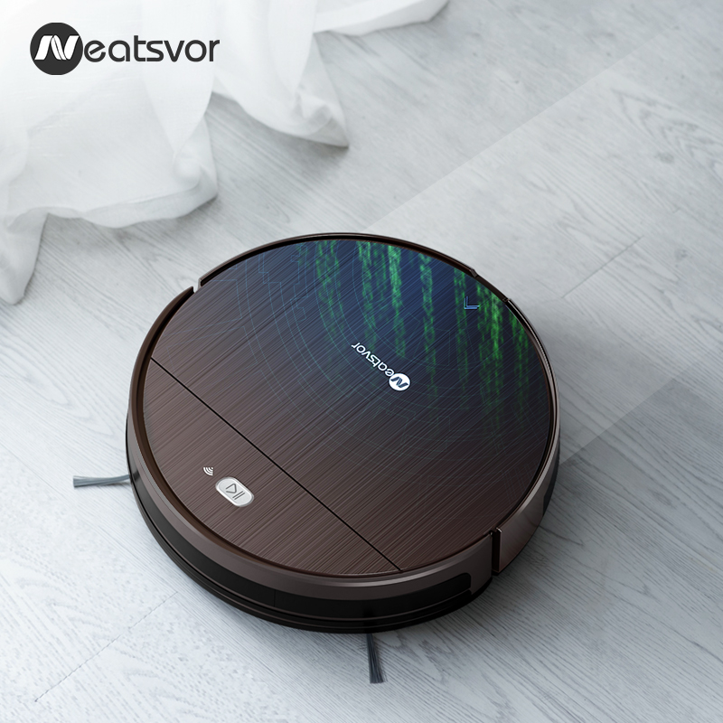 Image 3 - NEATSVOR V392 Robot Vacuum Cleaner,Map navigation,1800Pa Suction,Auto Charge, Map Display, Wifi APP Connect, Electric Water tankVacuum Cleaners   -