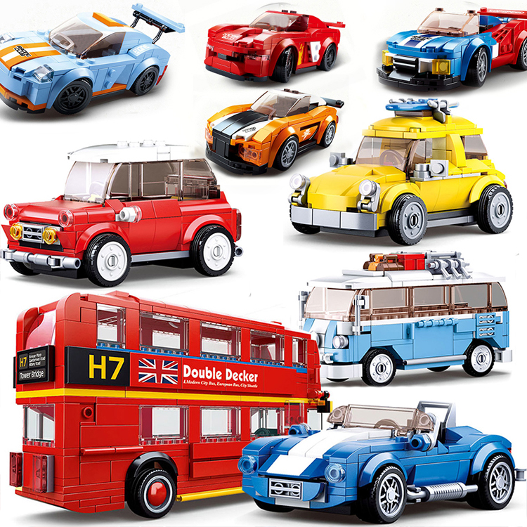 CITY Great vehicle SPEED CHAMPIONS Car sets Building Block Kit Brick Model Kids Toys London double decker bus Compatible(China)