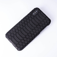 Phone Cases Cowhide Serpentine For IPhone X XS Max XR Half Wrapped Case For Apple 5 5S SE 6 6S 7 8 Plus Protect Phone Case