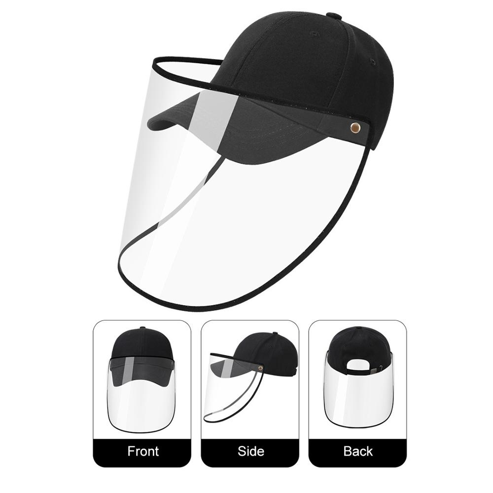 Outdoor Windproof Sand Baseball Cap Removable Windproof Anti-dust Spittle Face Covering For Summer Hat