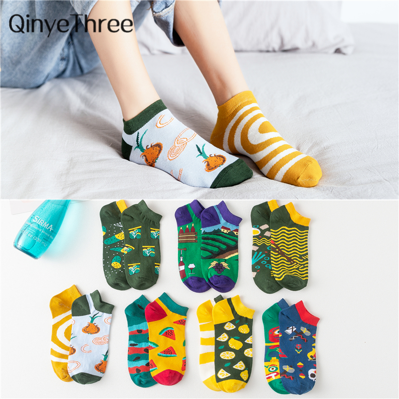 1pair Fashion Striped Men's Socks Invisible Low Cut Ankle Sock Summer Casual Breathable Short Socks Unisex Coton &women Dropship