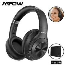 Mpow h21 fones de ouvido sem fio, fones de ouvido com bluetooth 5.0, cancelamento de ruído ativo, headset anc, 40 horas de funcionamento, super hi fi, som de graves profundos