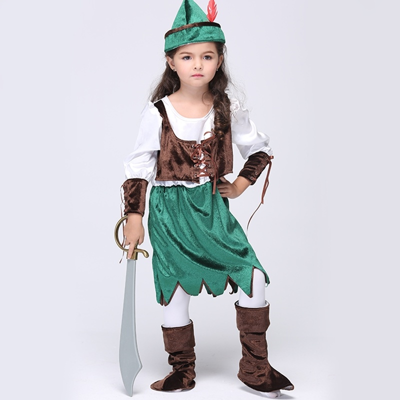 New Baby Girl Pirate Style Suit Kid Halloween Outfit 3 Piece