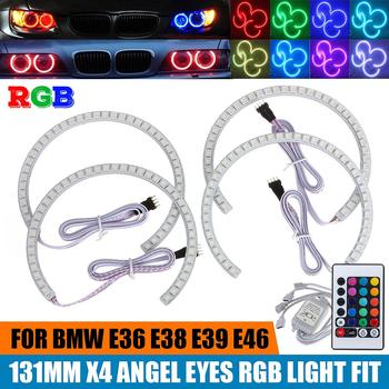 NEW 4PCS Latest Multi-Color 168 RGB 5050 SMD LED Angel Eyes Halo Ring for BMW E36 E38 E39 E46 M3 16 colors available to change image