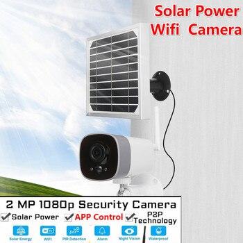 1080P Solar Power Camera 2MP Wireless Wi-fi Security Surveillance Waterproof Outdoor Camera IR Night Vision Solar Power HD Camer
