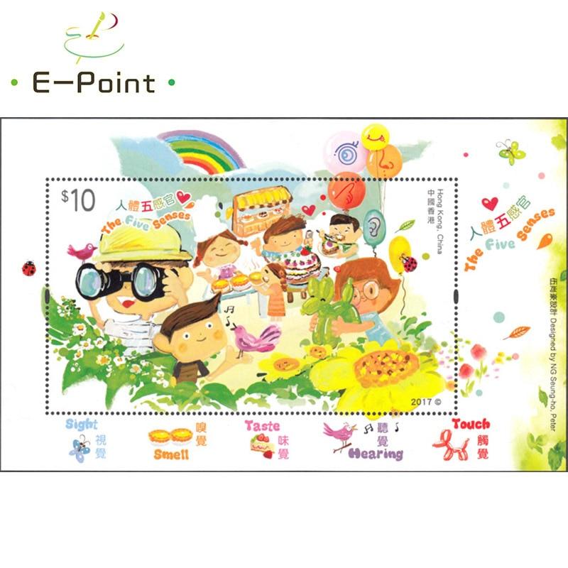 E-point mini folha china hong kong selos postais 2017 hs248 os cinco sentidos