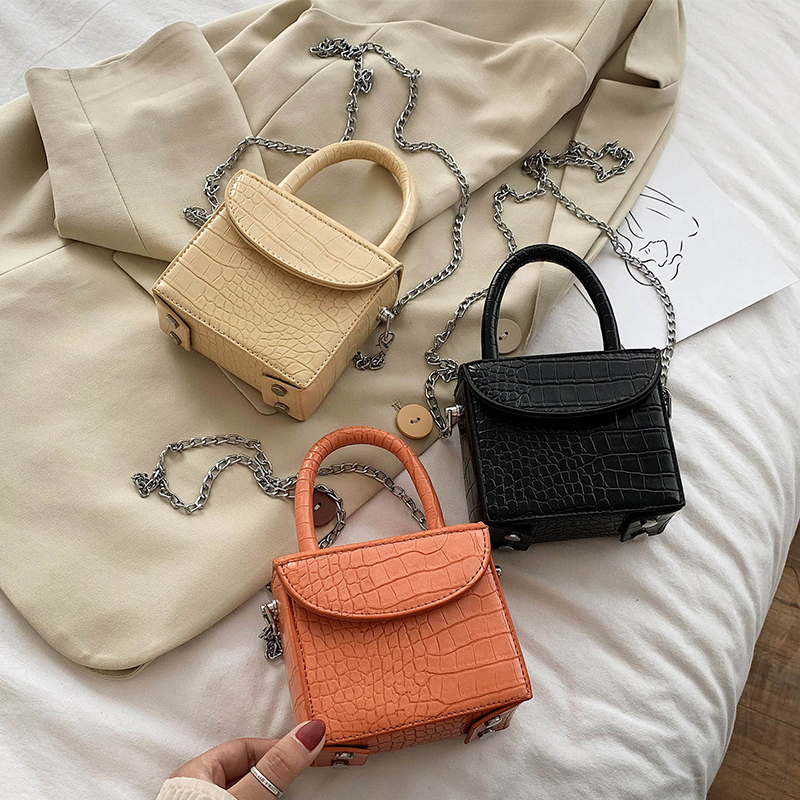 Mini Box Design PU Leather Crossbody Bags For Women Brand New Summer Shoulder Hand Bag Travel Chain Handbags Solid Color Stylish|Shoulder Bags|   - AliExpress