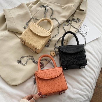 Mini Box Design PU Leather Crossbody Bags For Women Brand New Summer Shoulder Hand Bag Travel Chain Handbags Solid Color Stylish