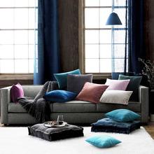 Obicia na poduszki aksamitne dekoracje poduszki na kanapę salon samochodowy Housse De Coussin 45*45 poduszki dekoracyjne dekoracje domowe w stylu nordyckim tanie tanio CANIRICA CN (pochodzenie) W jednym kolorze Bez wzorków wyszywana Stałe Plac Seat DEKORACYJNY Chair SAMOCHÓD velvet cushion cover
