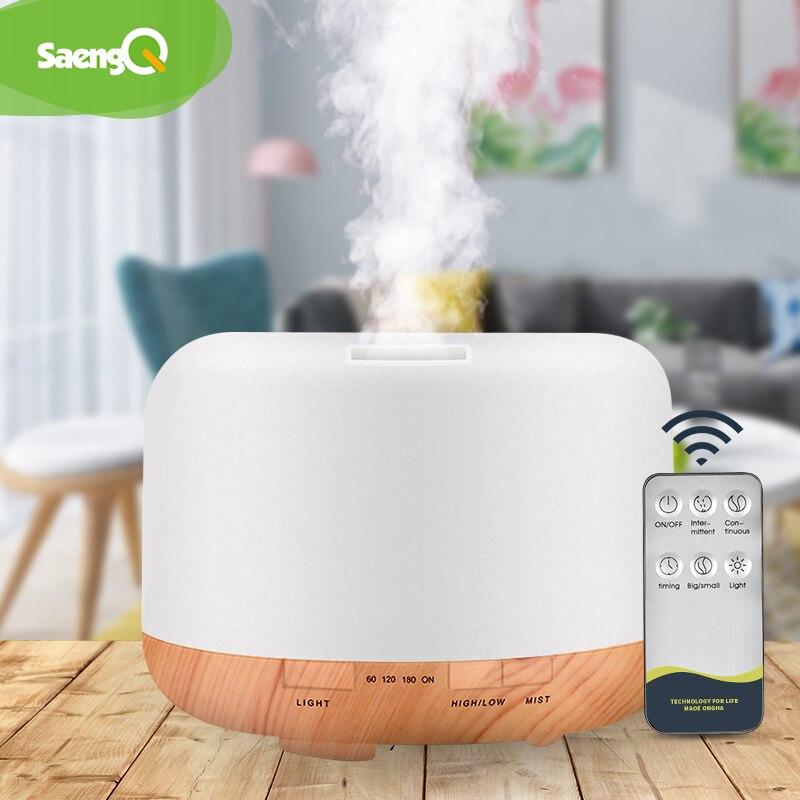 SaengQ elektrikli Aroma YAYICI hava nemlendirici 300ML 500ML 1000ML ultrasonik serin Mist Maker sisleyici LED uçucu yağ difüzörü
