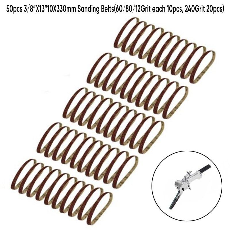 50* Sanding Belts Tools Kit For Sanding Wood,varnish,paint,plastic,plaster And Light Metal.