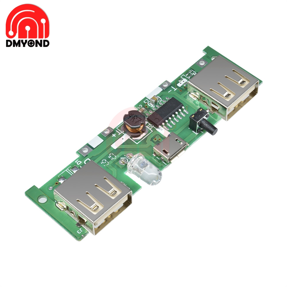 DC 5V 1A 2A Micro USB Polymer Lithium Battery Charging Board Mobile Power Bank Charger Control Board DIY Step Up Boost Module