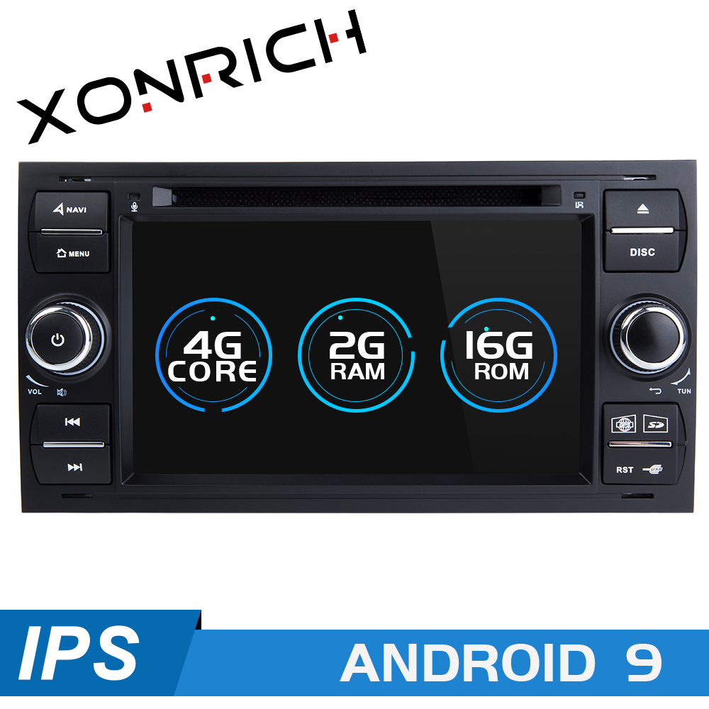 2din Android 9 Car Radio Multimedia <font><b>For</b></font> <font><b>Ford</b></font> <font><b>Focus</b></font> 2 3 mk2 Mondeo 4 Kuga Fiesta Transit Connect S-C MAXGPS Navigation head unit image