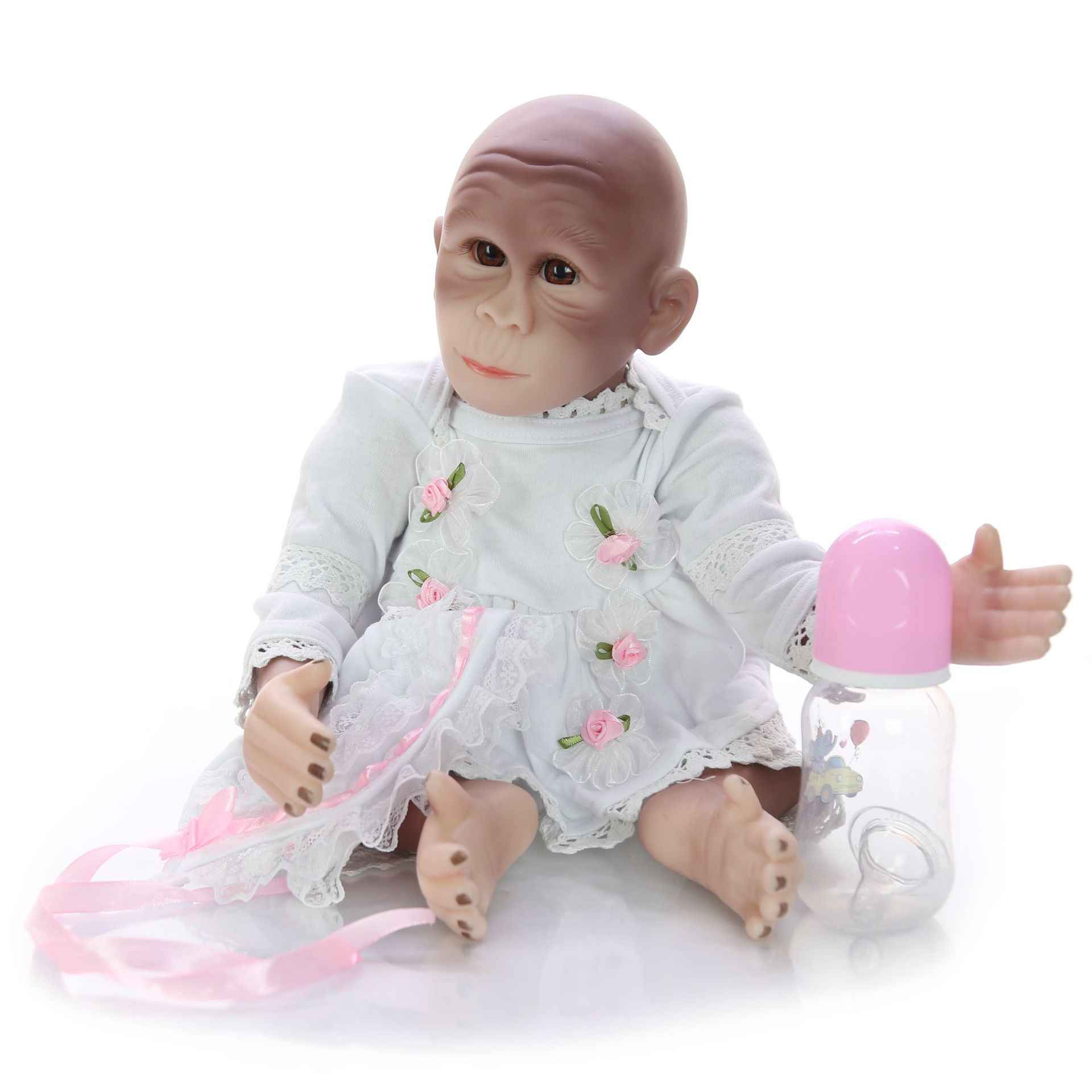 19 дюймов 48 см мягкие силиконовые куклы ручной работы Reborn Baby куклы Реалистичная обезьяна новорожденная кукла малыш милый подарок на день рождения