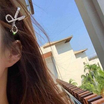 1 Uds tijeras con forma de Clip de pelo para mujeres y niñas horquilla accesorios para el cabello decoraciones delicadas de perlas