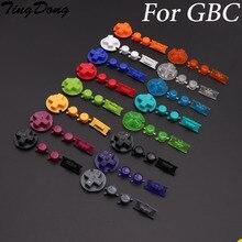 Tingdong 30セットプラスチック電源オンオフボタンキーパッドゲームボーイカラーgbcのためのカラフルなボタンdパッドbボタン