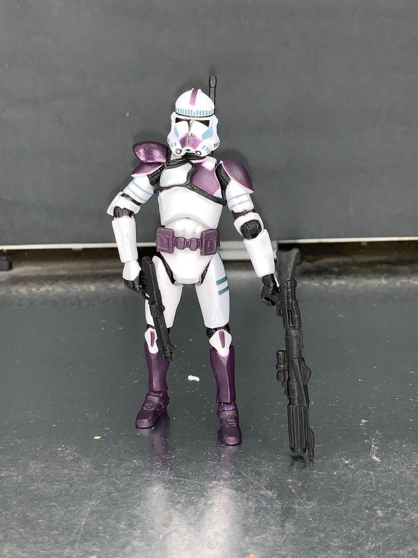 Action Figures 3 75 Star Wars Battle Of Utapau Orange White Clone Trooper Action Figure Toys Hobbies