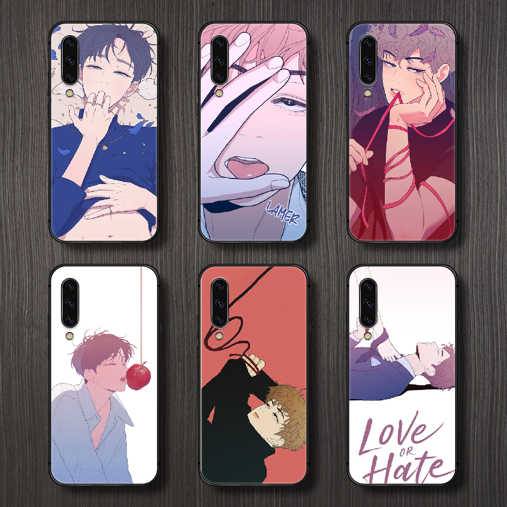 Love or Hate Boy Phone Case Cover For Samsung Galaxy A10 A20 A30 E A40 A50 A51 A70 A71 J 5 6 7 8 S black cell cover tpu
