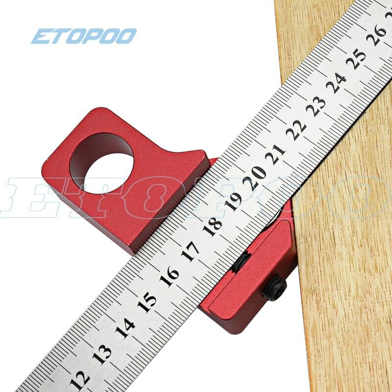 406.14руб. 21% СКИДКА|Столярная DIY деревообрабатывающая угловая стальная линейка позиционирование блок линия Scriber Калибр алюминиевый сплав для измерительных инструментов|Шаблоны| |  - AliExpress