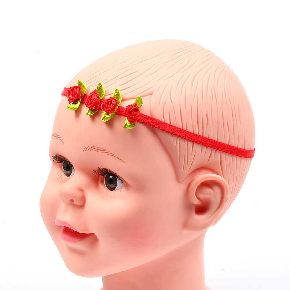 แถบคาดศีรษะเด็กทารกอุปกรณ์เสริมผมเสื้อผ้า Rose ดอกไม้ทารกแรกเกิด Headwear เด็ก headwrap hairband ของขวัญเด็กวัยหัดเดินสาว