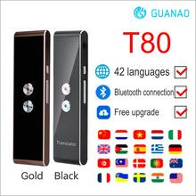 Portable T8 Smart Voice Speech Translator Two Way Real Time 40+ Multi Language Translation For Learning Travelling Business Meet