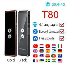 محمول T8 الذكية صوت الكلام مترجم اتجاهين في الوقت الحقيقي 40 + متعددة اللغات الترجمة لتعلم السفر الأعمال تلبية