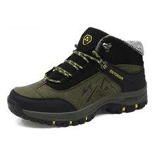 Plus Size 46 Super Warm Men Hiking shoes Winter Outdoor Trekking Mountain Climbing Shoes