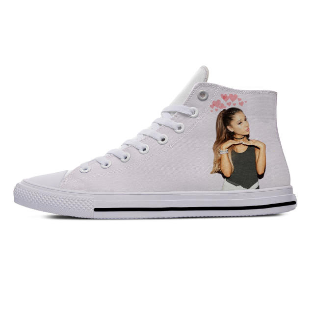 ARIANA GRANDE THEMED HIGH TOP SHOES (9 VARIAN)