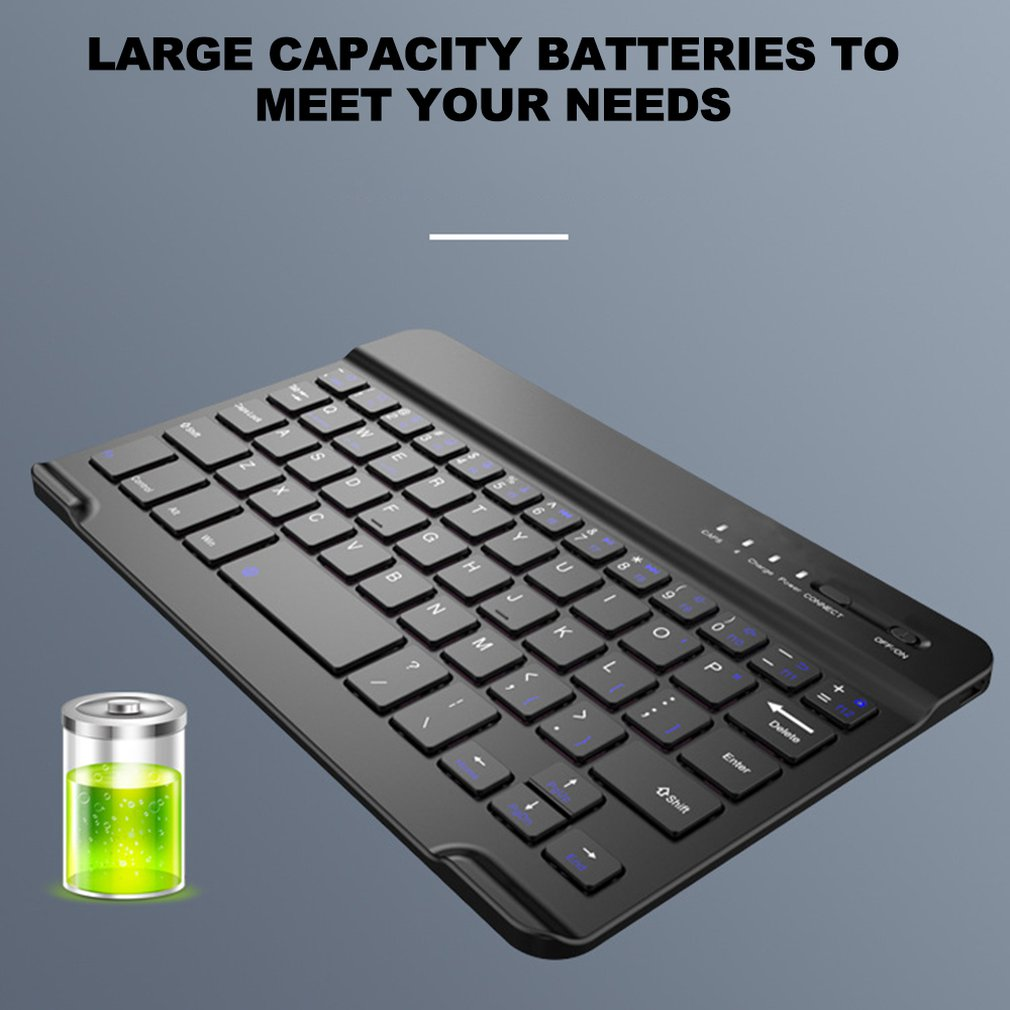 7Inch Mini Wireless Keyboard Home Office Universal Computer Keyboard Thin And Light Computer Accessories