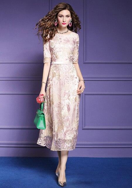 Фото zuoman женское длинное роскошное колье с вышивкой платье сеткой