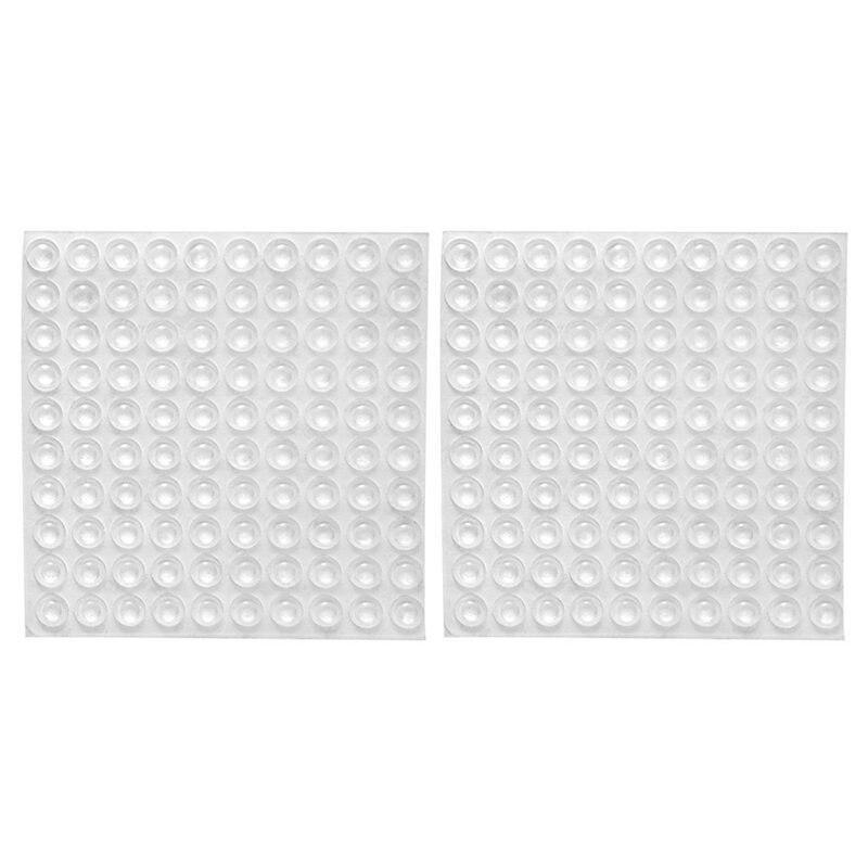 200x Transparent Rubber Feet Adhesive Bumper Pads Self Stick Bumpers Sound Dampening Door Cabinet Buffer Pads, 8*2.5mm