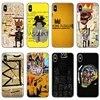 Jean Michel Basquiat Art 낙서 사례 삼성 Galaxy Note 10 plus S10E M30 화웨이 명예 20 10i lite 9x pro 8s Y5 2018 2019