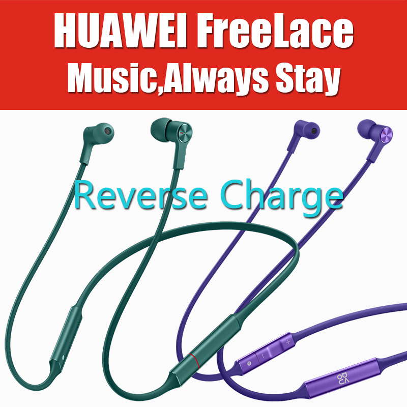in Stock HiPair Huawei FreeLace Sport Earphones Bluetooth wireless Headset Reverse Charge P30 Pro IPX5 Magnetic