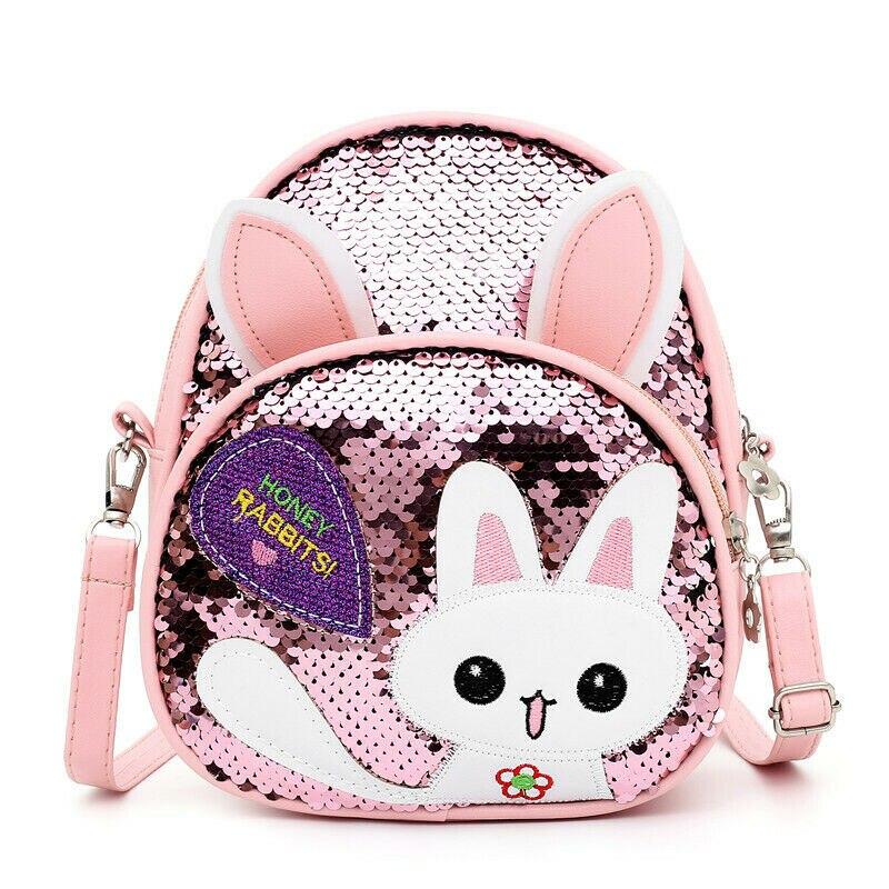 2019 New Cute Baby Girl Mini Backpack Fashion Sequins Cartoon Rabbit School Bag Kindergarten Children Backpack