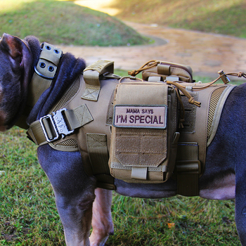 Tactical Dog Vest Military Hunting Shooting Cs Army Service Dog Vests Nylon Pet Vests Airsoft Training Molle Dog Vest Harness 1