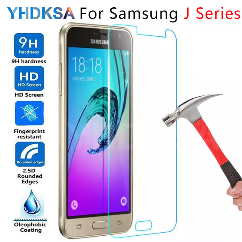 9H HD Tempered Glass For Samsung Galaxy J3 J5 J7 2015 2017 2016 J2 J8 J4 J6 Plus 2018 Screen Protector Film Protection Glass image