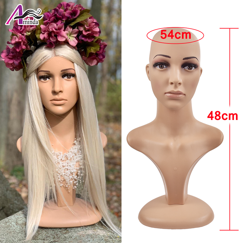 Head Rotatable Female Mannequin Head Wigs Hats Cap Glasses Headphone Display Model Stand Window Mannequin Head for Wig Display image