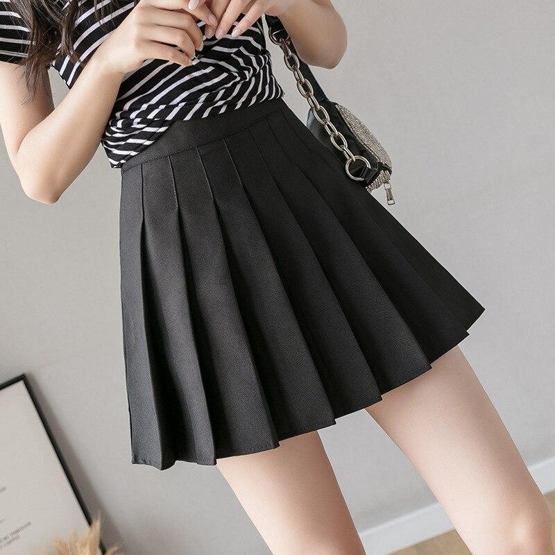 QRWR Fashion 2021 Kawaii Summer Women Skirts High Waist Cute Sweet Girl's Pleated Skirt Korean Style Mini Skirts for Women 2
