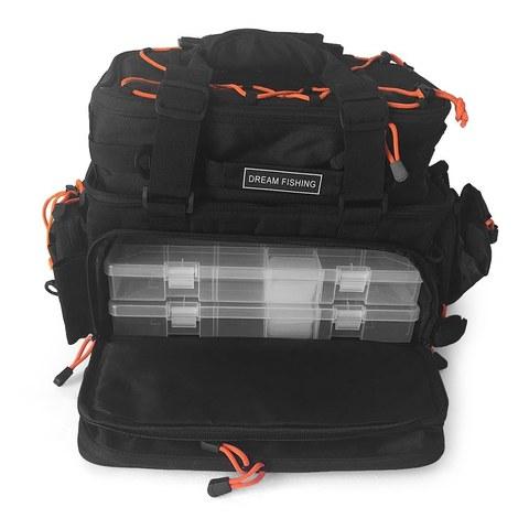 multifuncional combinacao isca de pesca mochila enfrentar saco destacavel mochila ombro bolsas de armazenamento de