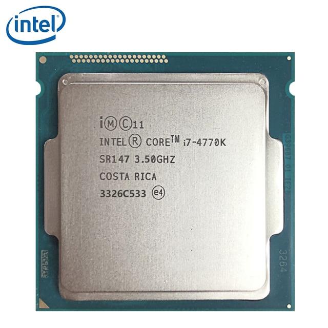 Intel Core i7 4770K SR147 3.5GHz 84W LGA 1150 dört çekirdekli İşlemci Intel I7 4770K masaüstü İşlemci % 100% çalışma test